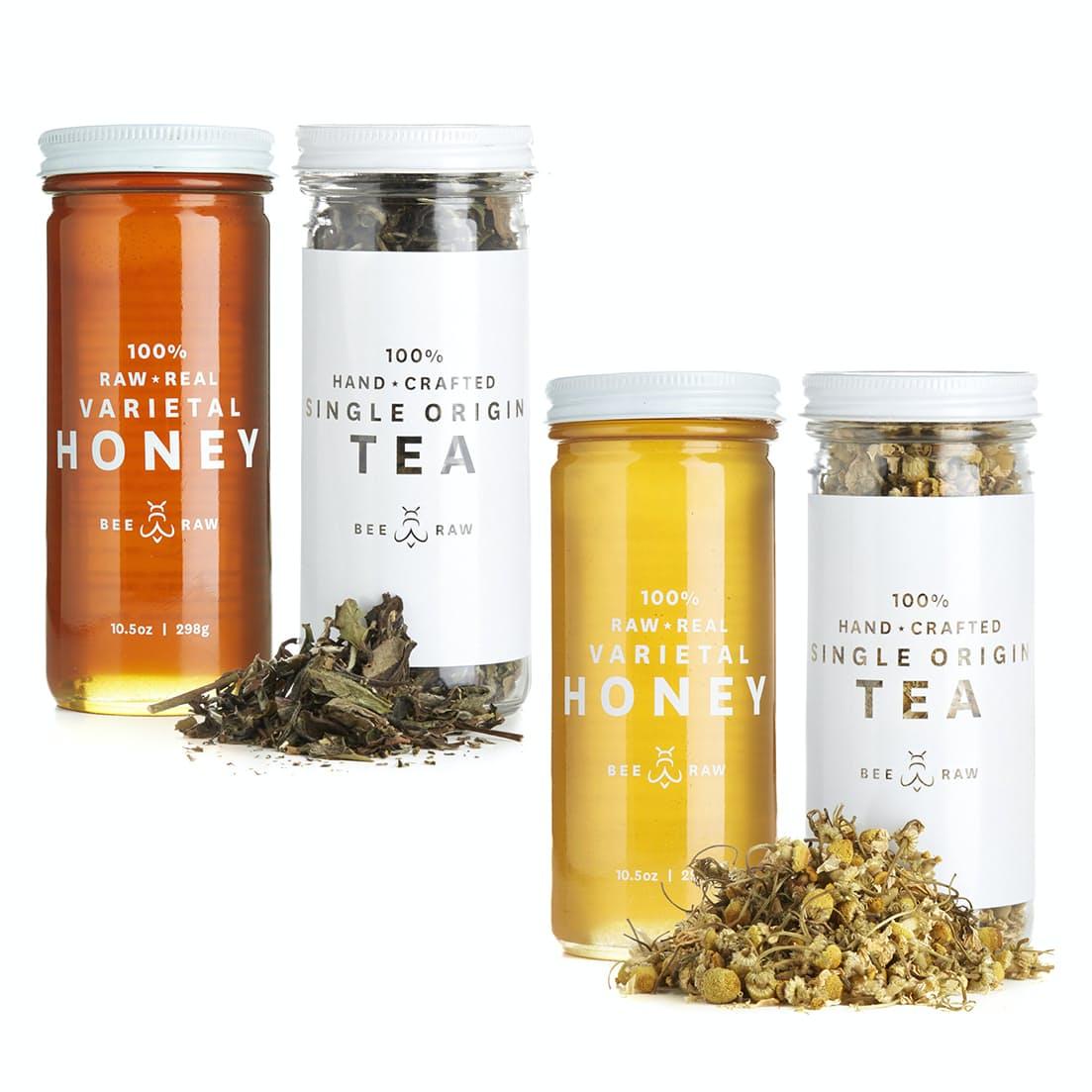 Wajkhbsyqh bee raw calming tea honey set 0 original