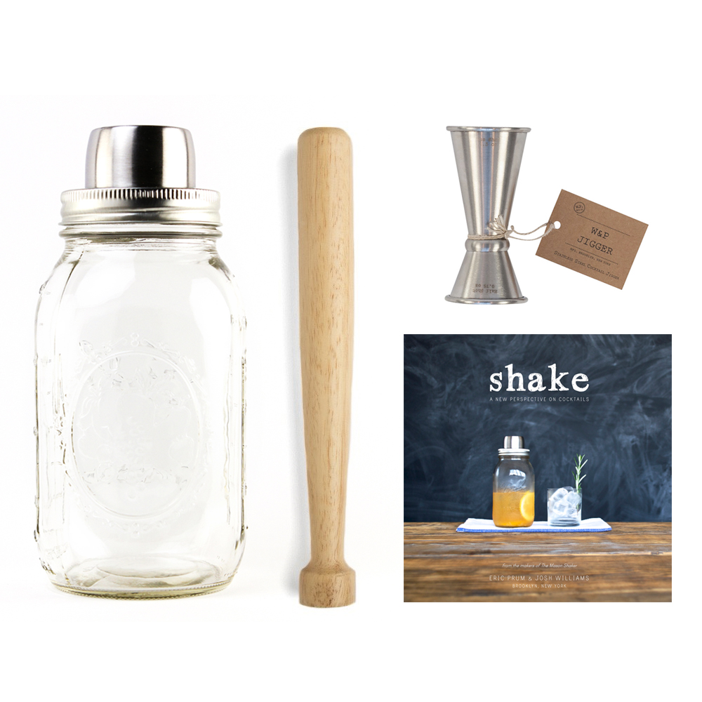 w p design barware set with shake book huckberry