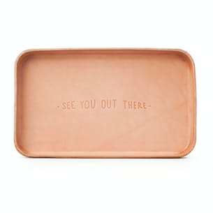 """""""See you Out There"""" Leather Valet Tray"""