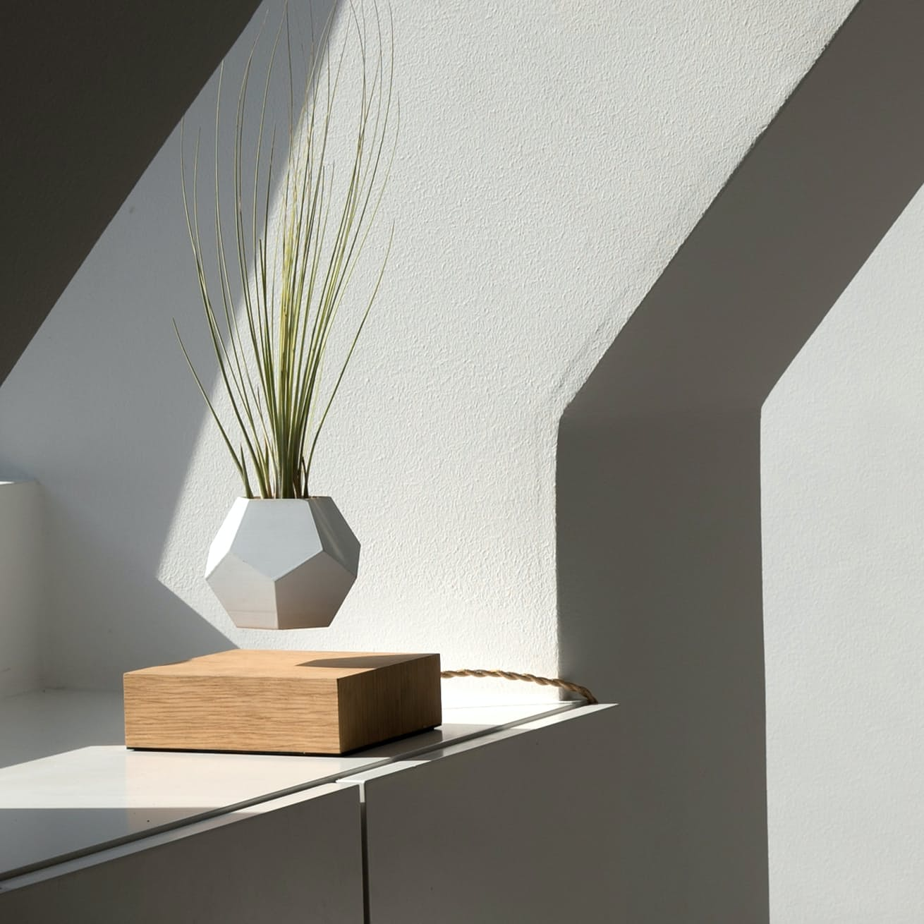 levitating furniture. levitating furniture flyte planter whiteoak p flmb inside image