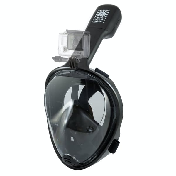 aee18ddfacc9 H2O Ninja Mask Full Face Snorkel Mask + Gopro Mount