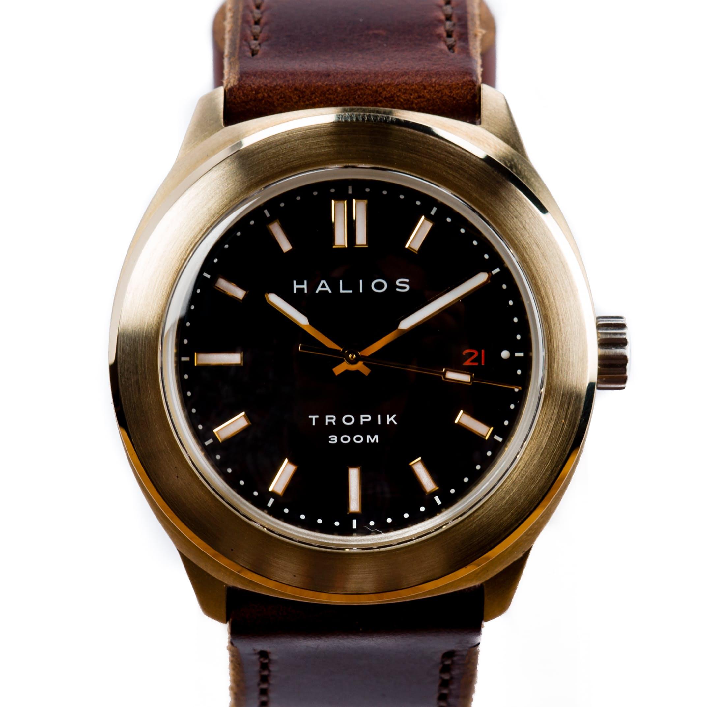 Adbtcdopzi halios tropik bronze watch baton dial 0 original