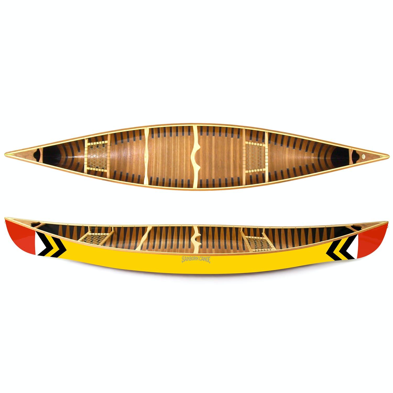 Tlsexpxzir sanborn canoe co prospector canoe 16 0 original