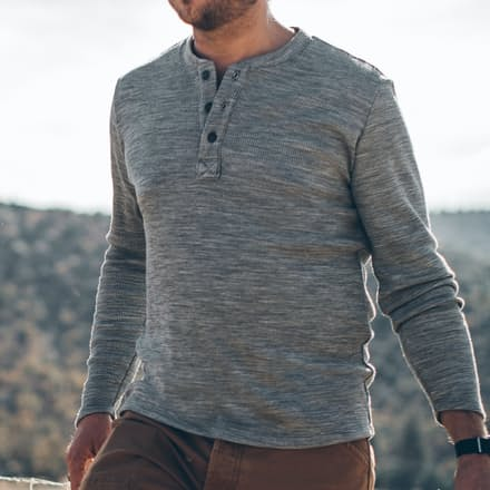 Merino henley top