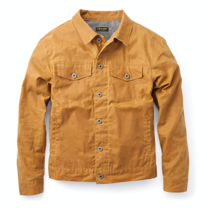 Flannel Lined Waxed Trucker Jacket Huckberry