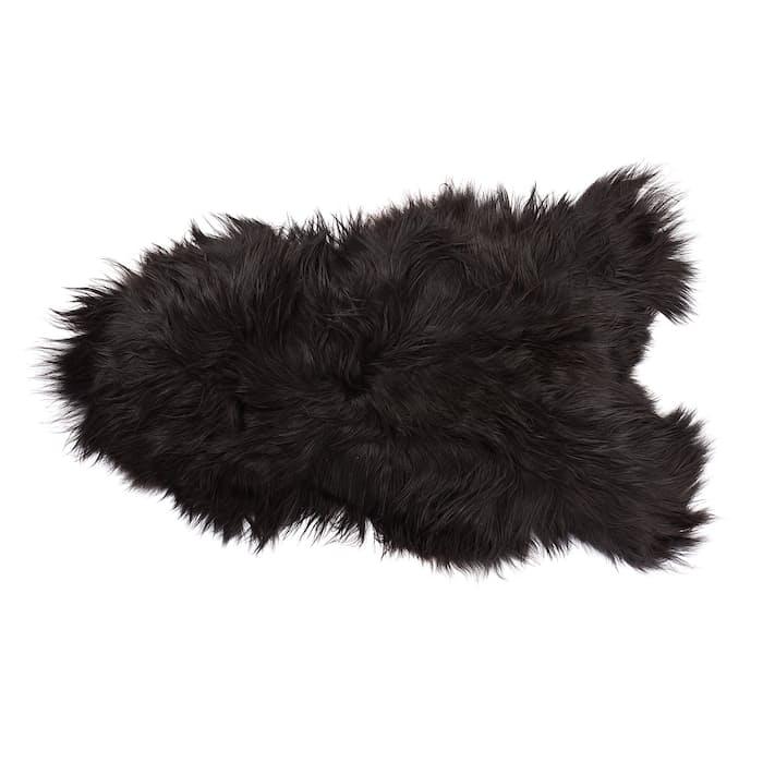 Icelandic Sheepskin Rug Black