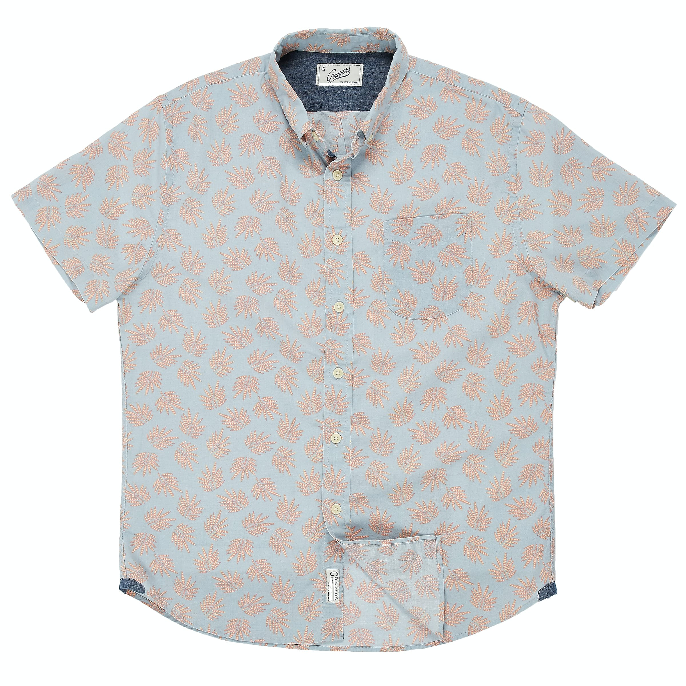 Aeshpfssq2 grayers blue palm leaf summer plain weave shirt 0 original