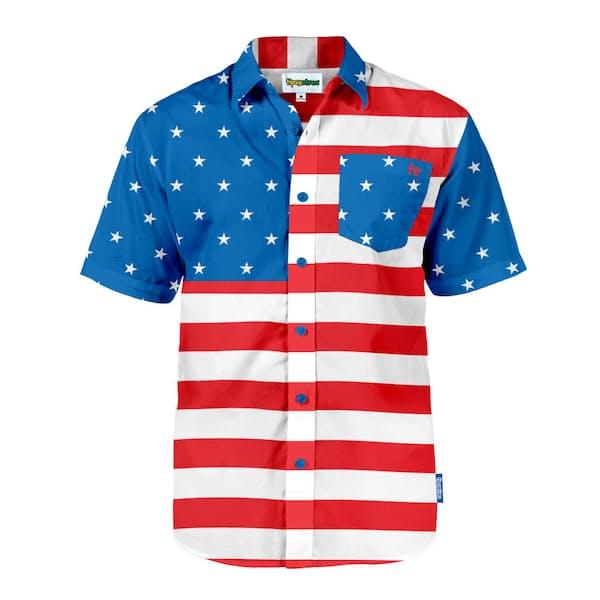 8e5ead06d539 Tipsy Elves The Flag Hawaiian Shirt