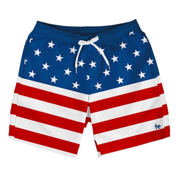 0175497a5653 Tipsy Elves American Flag Swim Trunk