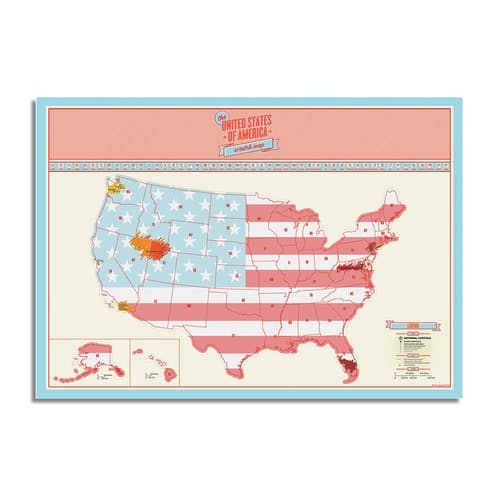 Luckies US Scratch Map Poster | Huckberry