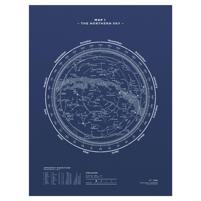 Stellavie Map I - Northern Sky | Huckberry
