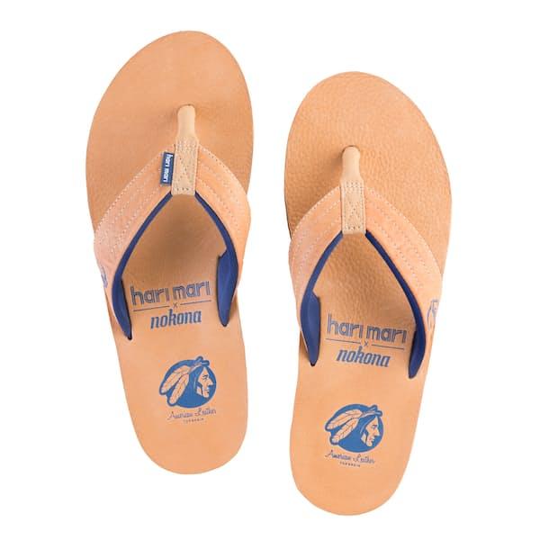 4525a85aa Hari Mari Nokona Leather Flip Flops