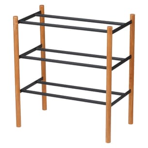 Plain Expandable 3-Tier Shoe Rack