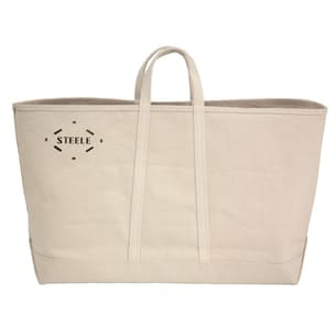Wide Natural Canvas Tote