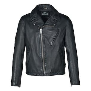 Hand Vintaged Cowhide Clean Motorcycle Jacket