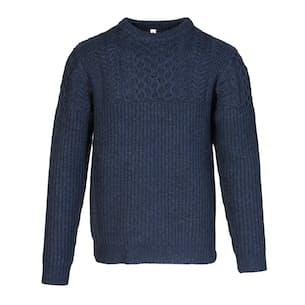 Wool Blend Cableknit Crewneck