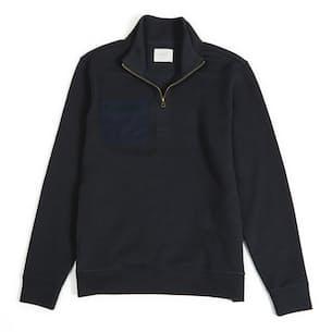 Knit Woven Half Zip