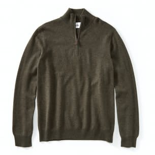 Cashmere Quarter Zip Mock