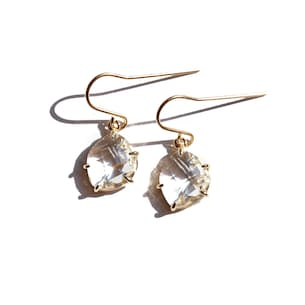 Gold Crystal Claw Earring