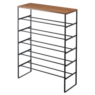 Wood Top Shoe Rack Tower - 6 Tier