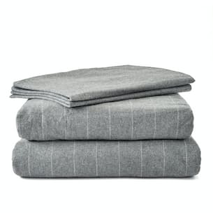 Eco Heather Flannel Sheet Set - Queen