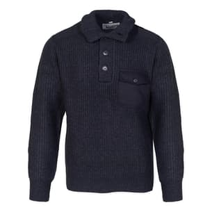 Men's Stand Up Neck Wool Sweater