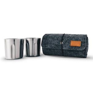 Tumbler 2-Pack + Wool Felt Carrying Case