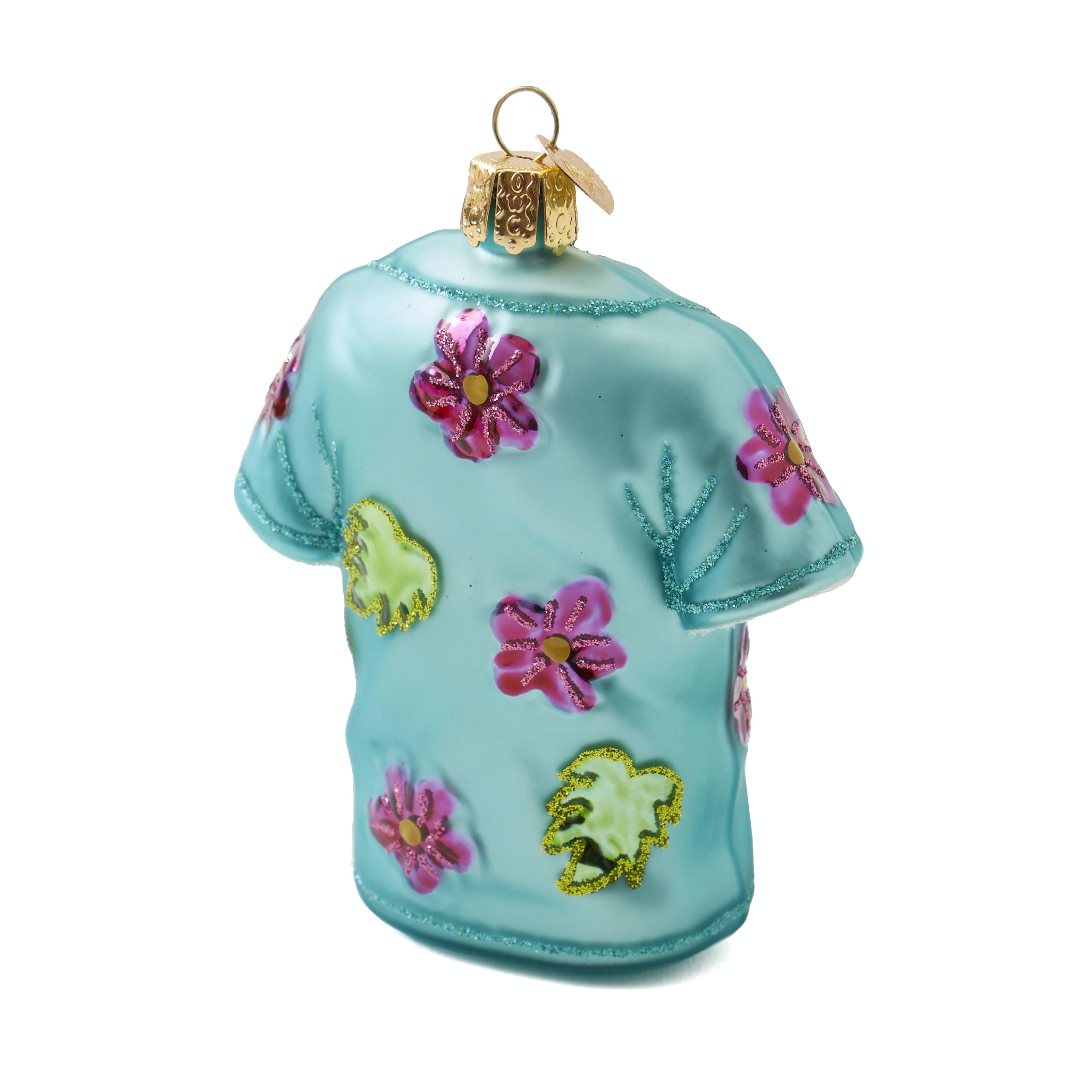 Bright floral Hawaiian shirt ornament