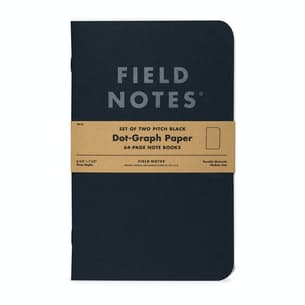 Pitch Black Dot-Graph Note Book 2-Pack