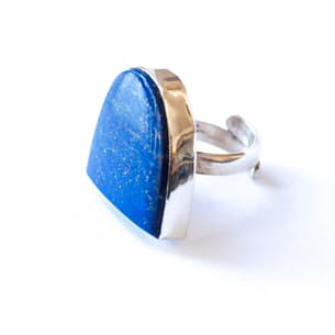 Lapis Half Moon Ring