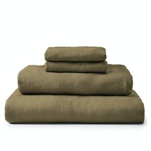 Stonewashed Linen Sheet Set - King