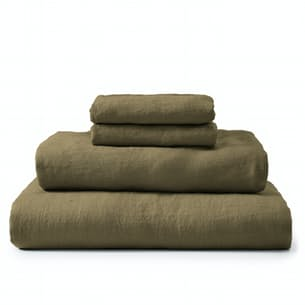 Stonewashed Linen Sheet Set - Queen