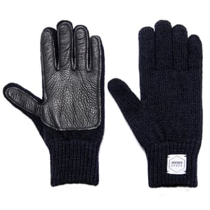 Full Fingers Ragg Wool Glove with Black Deerskin