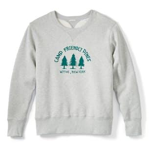 Camp Friendly Pines Flocked Sweatshirt