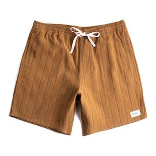 """Textured Linen Jam Short - 6"""""""