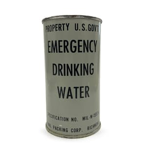 Emergency Drinking Water Can Candle