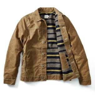 Wool-lined Waxed Trucker Jacket