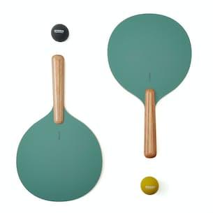 Avora Natural Wood Paddle Tennis Set