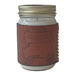Heritage Park Map Leather Candle