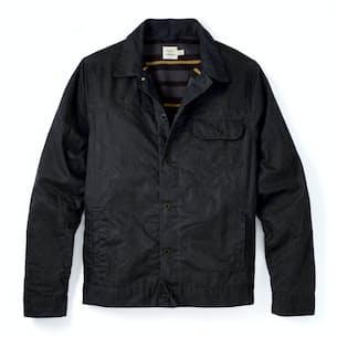 Flannel-lined Waxed Trucker Jacket