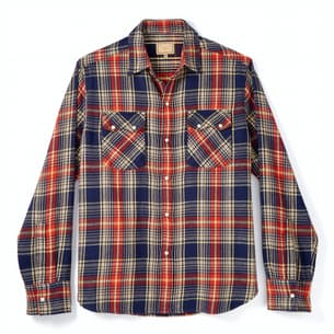 Washed Pearl Snap Flannel Shirt