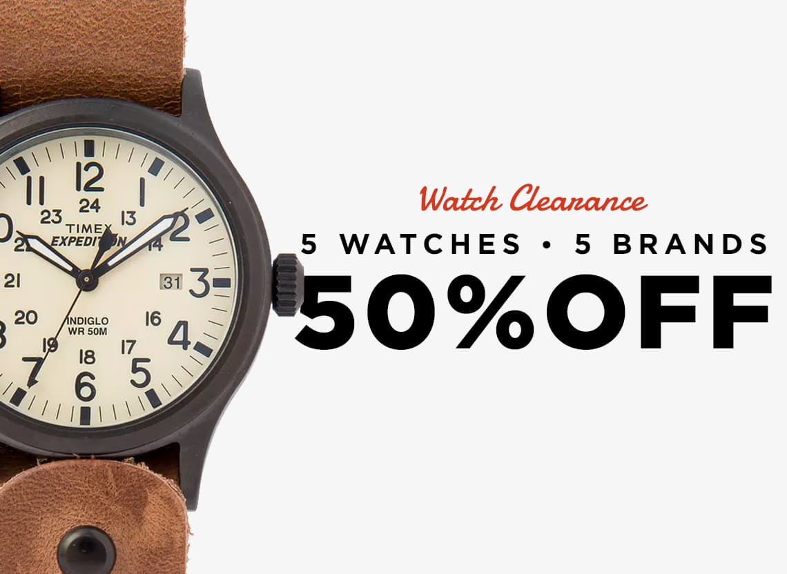 Watch clearance hero