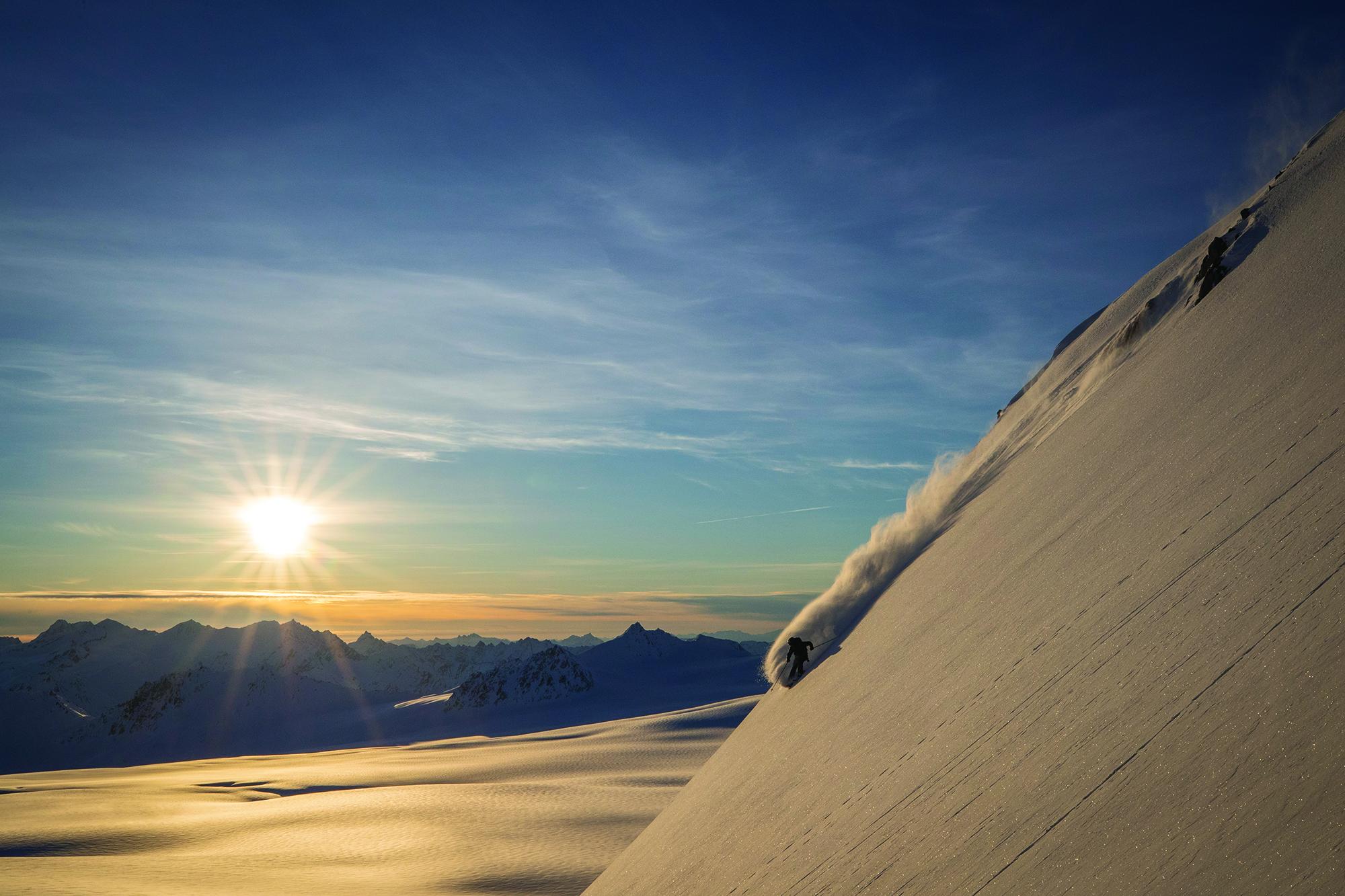 Ben Nobel skiing