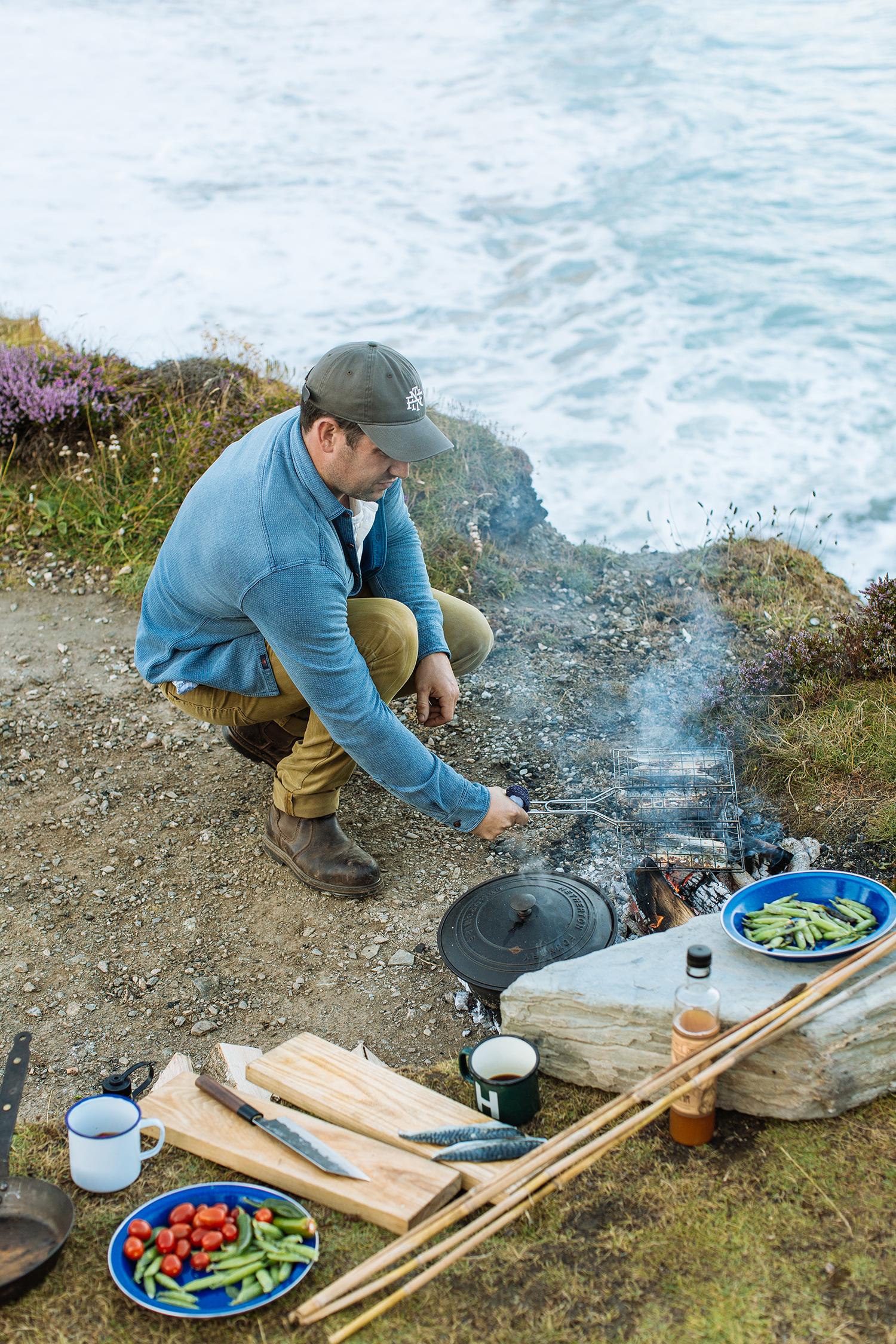 Ben Quinn cooking