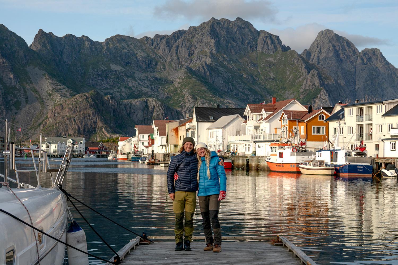 Charles Post and Rachel in Lofoten