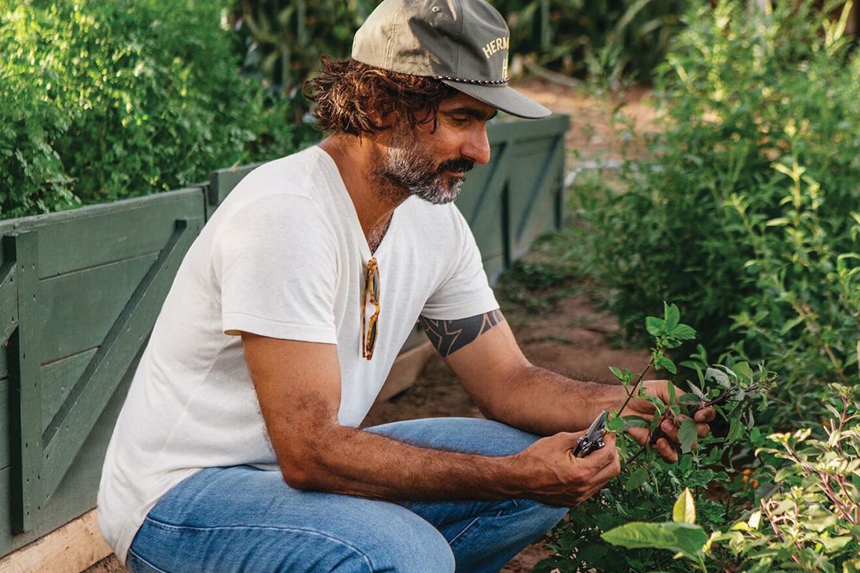 Dario Tani in La Finca's garden
