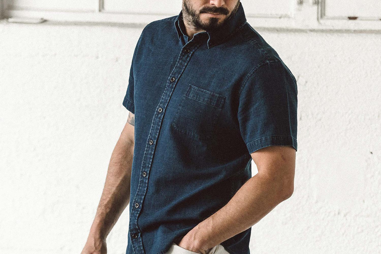 Dress short sleeve button down shirt