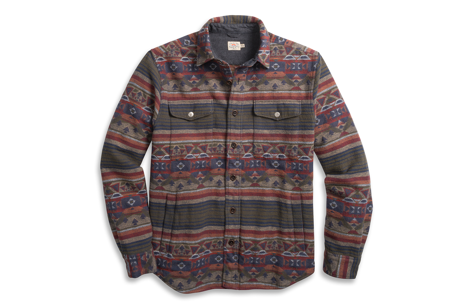 Faherty Brand Reversible Bondi Jacket Shirt Jacket