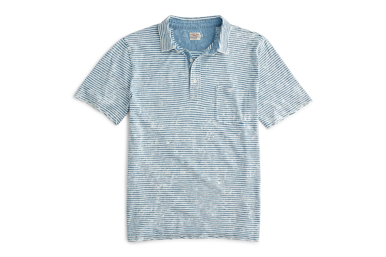 Faherty Brand Indigo Polo Shirt