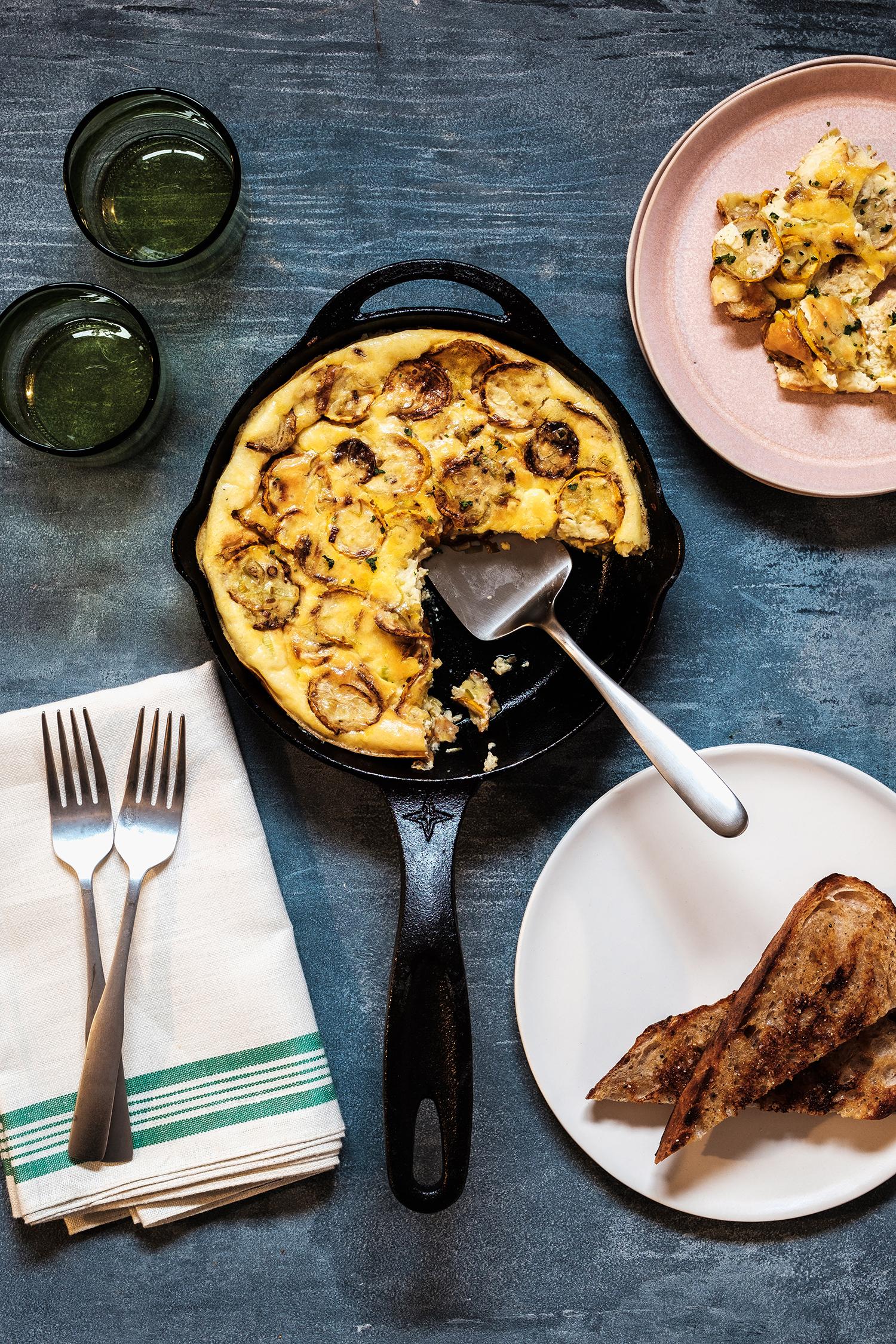 Zucchini and Crème Fraîche Frittata Recipe